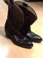 Sinaloa Dark Brown exotic Leather Western Style Cowboy Boots Shoe Size 7.5M