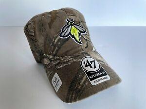 COLUMBIA FIREFLIES - Mens Baseball Hat Cap ('47 Brand) CAMO NWT