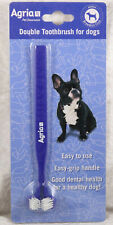 Agria Double toothbrush for dogs pet grooming brand new pet dental