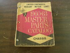 OEM Ford 1960 1963 Lincoln Mercury Comet Master Parts Book 1961 1962 Continental