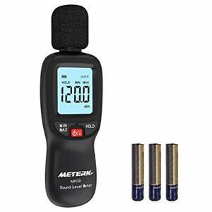 Sonometre Decibelmetre 30-130dBA Professionnel 31.5-8KHz Ecran LCD Retro Eclaire
