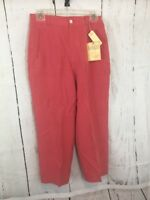 Tommy Bahama Capri Pants Size 6 Women's Silk Cropped  Rose NWT