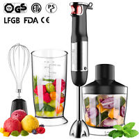 NEW 800W Hand Blender Stainless Steel Portable Stick Mixer Food Processor Set
