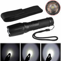8000Lm T6 LED Zoomable Flashlight Focus Torch Lamp 18650/26650/AAA Light