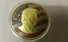 Donald Trump 45th President of USA 2017 Gold EAGLE coin money bill