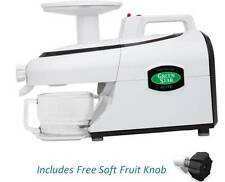 Lightly Used Green Star Elite Twin Gear Juicer - GSE5000 ~ Free Soft Fruit Knob
