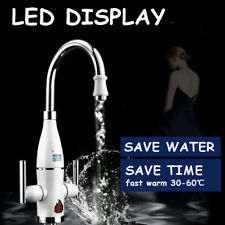 Instant Hot Electric Faucet Tap Water Heater Hot Cold Mixed Temp LED Display