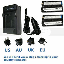 2XNP-F330 NP-F550 Battery +Charger for SONY MVC-FD90 MVC-FD91 Mavica Digital Cam