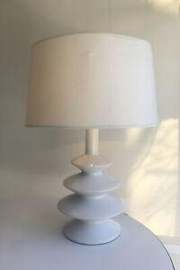 Tyndale 1960s white Accordion MCM lamp Homage Diego Giacometti  - Works