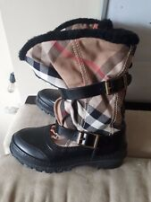 Burberry House Check Shearling Snow Boots