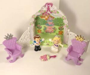 Fisher Price Little People Royal Garden Wedding Playset Gazebo Prince Princess
