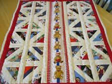 Handmade Cot Baby Patchwork American Quilt Reversible Beautiful Teddies NEW!