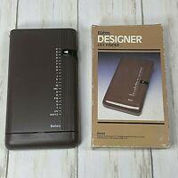 VINTAGE BATES DESIGNER LIST FINDER PHONE DIRECTORY BROWN NEW IN worn BOX