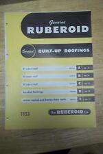 Ruberoid Co Catalog~Asbestos~Built-up Roofing~Air-Vent Asbestos Felt 1953