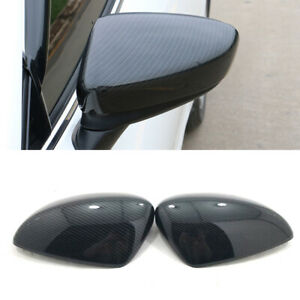 ABS Carbon Rear Rearview Mirror Cover Trim 2pcs for Mazda 6 M6 Atenza 2013-2020