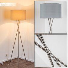 Moderne Dreibein Stand Leuchten Wohn Schlaf Zimmer Boden Beleuchtung Stoff Grau