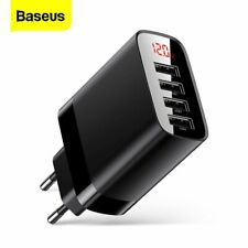 Baseus 30W EU Plug 4 USB Wall Charger Hub Phone Power Adapter For iPhone Samsung