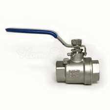 """1/2"""" Ball Valve Home Brew Beer Tap made from 304 Stainless Steel blue handle"""