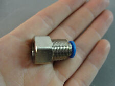 "FESTO HYDRAULIC PNEUMATIC AUTOMATION 3/8"" ID STRAIGHT PUSH IN FITTING 6mm NEW"