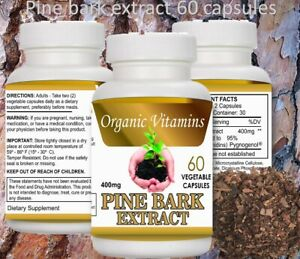 PINE BARK EXTRACT 60 CAPSULES 400mg BEST DEAL of pine Pycnogenol French Maritime