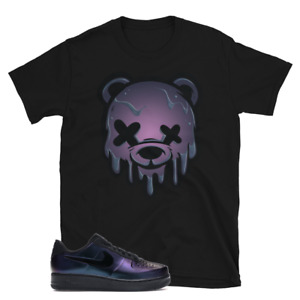 DRIPPY BEAR Shirt to match Nike Air Force 1 Foamposite Pro Cup Court Purple