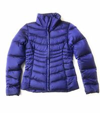 The North Face Goose Down Quilted 550 Purple Puffer Jacket Womens Extra Small XS
