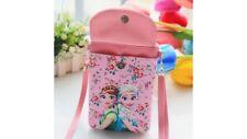 Frozen Elsa Anna Princess purse cell phone makeup bag pink with strap