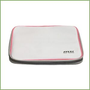 Msi wind netbook white and pink laptop bag sleeve - new & warranty
