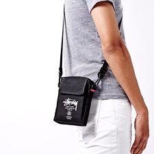 Stussy Black Canvas Mini Crossbody Messenger Shoulder Bag Smart Magazine FW2014