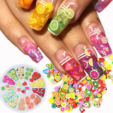 Beauty Nail Stickers 3D Fruit Fimo Slice DIY Nail Art Decoration Polymer Clay