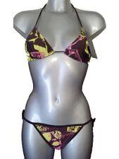Polyester V Neck Bikini Sets for Women