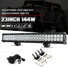 23inch Flood Spot Led Work Driving Light Bar 144W OffRoad Truck 4WD Jeep SUV UTE