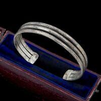 Antique Vintage Deco Mid Century 925 Sterling Silver TAXCO Cuff Bracelet 22.4g