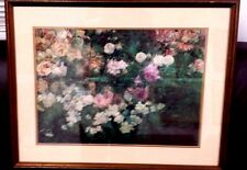 "VINTAGE GARDEN IN MAY BY MARIA OAKEY DEWING  NICELY FRAMED PRINT 15"" X 20"""