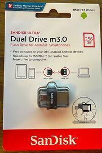 SanDisk® Ultra® Dual Drive m3.0 256GB OTG micro USB30 Memory Stick Flash Android