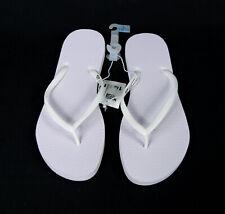 1 Pair Mossimo Leonie White Thong Sandals Flip Flops Bulk Wedding Sz L 10/11