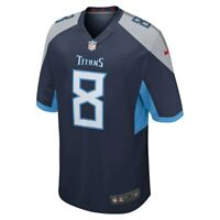 NWT Nike NFL Tennessee Titans Marcus Mariota #8 Navy Game Jersey M $115 RARE