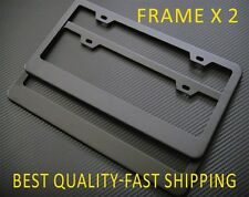 2 x PLAIN BLACK (201) METAL LICENSE PLATE FRAME RUST FREE+FOR NISSAN HYUNDAI