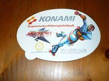 alter Aufkleber Sticker  Konami VideoSpiel Rollergames