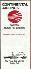 Continental Airlines system timetable 10/28/73 [8102]