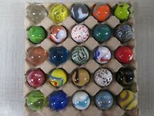 """Bulk Lot 25 - 1"""" MEGA Shooter MARBLES,ALL DIFFERENT,FREE PRIORITY SHIPPING"""
