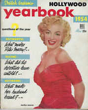 New listing MARILYN MONROE ON COVER HOLLYWOOD YEARBOOK, MOVIE MAGAZINE, 1954