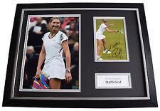 Steffi Graf SIGNED FRAMED Photo Autograph 16x12 display Tennis Sport AFTAL COA