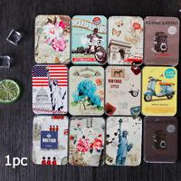 Multicolor Cartoon Tinplate Storage Box Travel Cosmetic Organizer Useful Box New