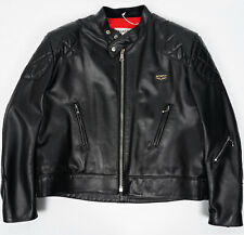 RRP £985 Lewis Leathers OUTLET MENS JACKET 443 Super Phantom Black Cow Size 48