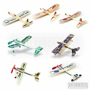 Guillows Balsa Wood Plane Kit Gliders Rubber Powered Flying Model Easy Build