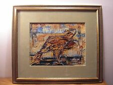 Miriam Sowers Mid Century Modern Abstract Framed Painting Entitled Eagle View
