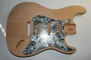 leicht US red alder Strat Body Korpus HSS SSS Tremolo 60 er Gitarrenbau 1,7 Kg