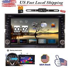 "Backup Camera+GPS 6.2"" Double 2 Din Car Stereo Radio DVD CD mp3 Player Bluetooth"