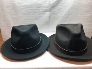 NEW Stetson Prof Hat with Brand Pin Brown and Black 100% Wool MADE IN USA